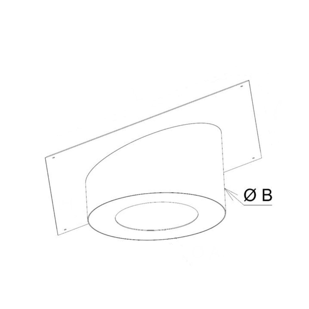 Diamètre retombée cache conduit sous rampant carré