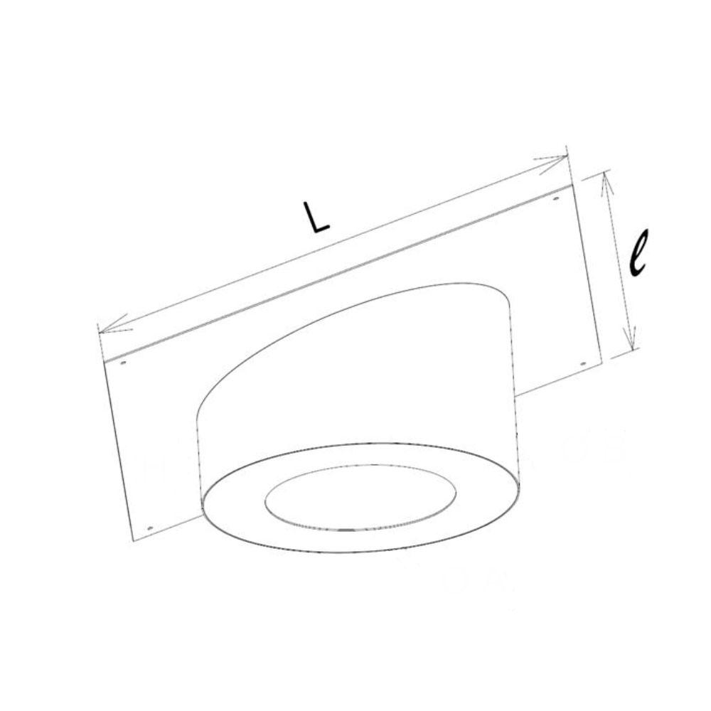 Dimensions platine cache conduit sous rampant carré