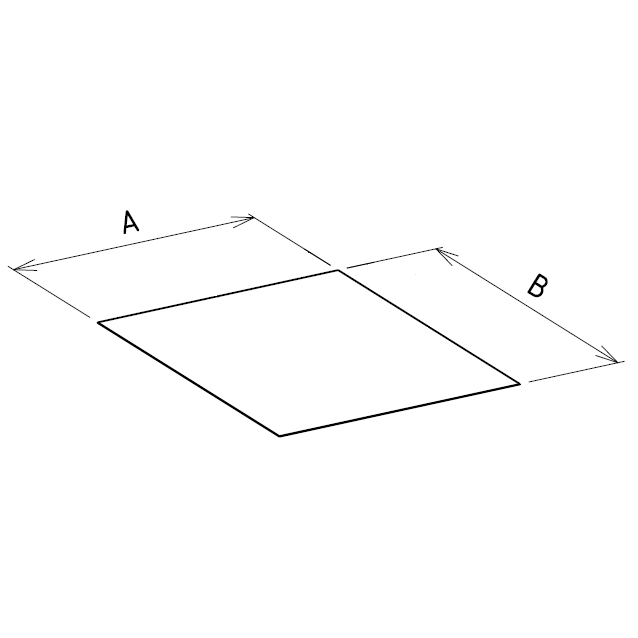 Plaque de proprete plafond sur mesures carree