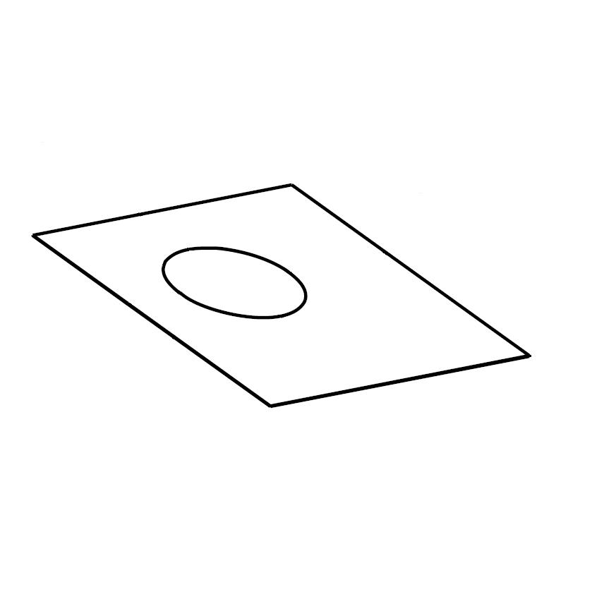 Plaque de finition plafond carrée en pente sur mesures