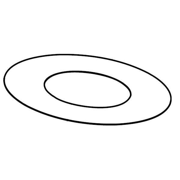 Plaque de propreté plafond sur mesures ronde