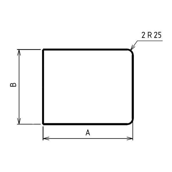 Plaque de sol sur mesures deux angles arrondis
