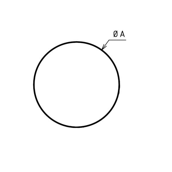 Plaque de sol ronde sur mesures