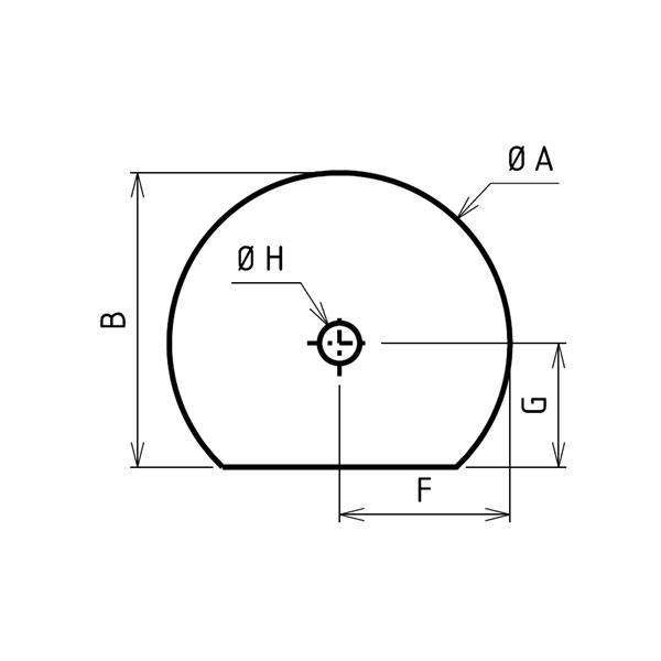 Plaque de sol sur mesures ronde coupée percée