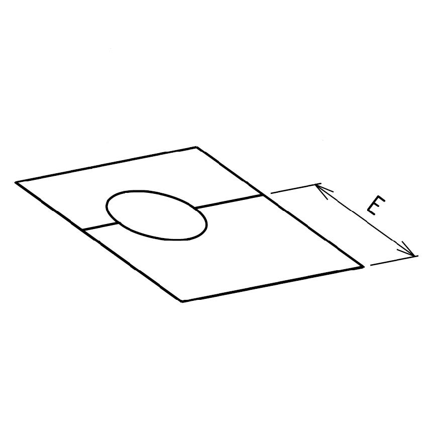 Plaque de propreté carrée sur mesures plafond en 2 parties