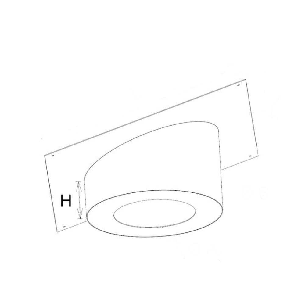 Hauteur cache-conduit sous rampant carré